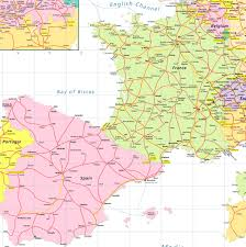 Spain Map France U0026 Spainpass