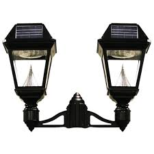 Solar Light Fixtures by Gama Sonic Imperial Ii 2 Head Solar Black Outdoor Integrated Led