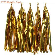 gold foil tissue paper 10packs 5pcs pack 14inch shiny gold foil tissue paper tassel