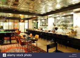 marks bar at hix brewer street soho london england uk stock