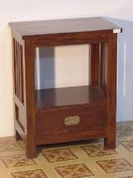 mahogany rattan night stand bedside minimalist drawer woven wooden