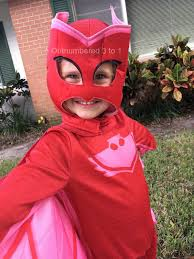 super halloween pj masks owlette costume