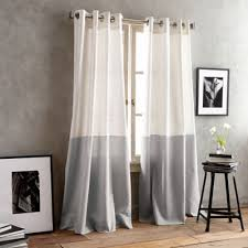 White And Grey Curtains Buy Grey Window Curtain From Bed Bath U0026 Beyond