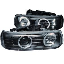 2001 chevy silverado fog lights silverado 1999 2002 projector headlight halo black clear with led