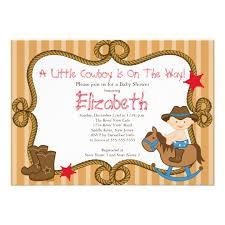 western cowboy baby shower invitations zazzle