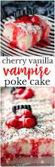 cherry vanilla vampire poke cake shaken together