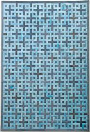 Blue Contemporary Rugs Directory Galleries Modern Leather Area Rugs