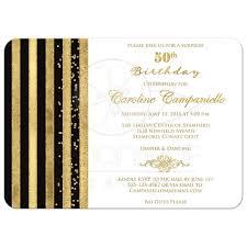 black and white invitations 50th birthday invitation black white gold stripes faux