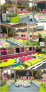 Pallet Patio Furniture Plans - awesome pallet patio terrace furniture plans wood pallet furniture