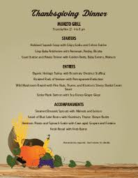 thanksgiving dinner menu thanksgiving menus