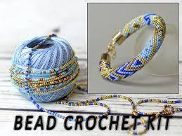 bead bracelet kit images Bracelet making kit beading kit adult crafts bead crochet etsy jpg