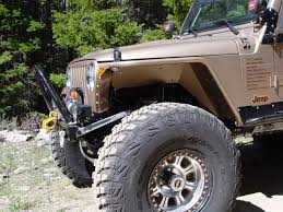 lj jeep lifted jeep tj tube fenders 3 inch flare high clearance 97 06 wrangler tj