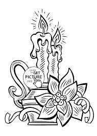 candle coloring pages for kids printable free