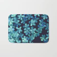 Navy And White Bath Rug Patterned Bath Mats Society6