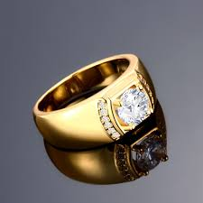 rose zircon rings images Fashion rings men classic round gold plated rose gold plated jpeg