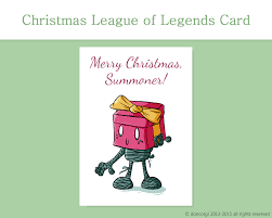league of legends merry christmas card printable card