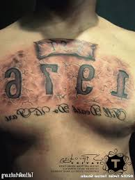 mens chest tattoos lettering mens chest writing tattoos 1000 images about chest pieces script