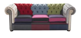chesterfield canapé decoration canapé chesterfield design moderne tissu multicolore