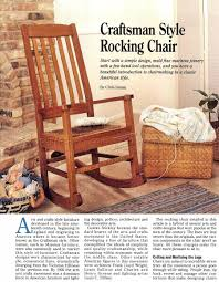 craftsman rocking chair plans u2022 woodarchivist