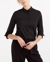 Black Blouse With White Collar Women U0027s Blouses U0026 Shirts Shop Online Reitmans