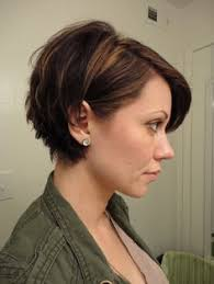 tucked behind the ear haircuts stacked back tucked behind ear hair pinterest short haircuts