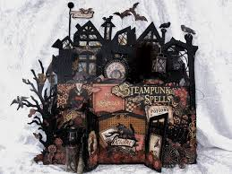 annes papercreations steampunk spells spooky house stand