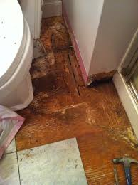 Laminate Flooring And Water Bathroom Water Damage And Floor Rot Temporary Fix Mojobudgie Com