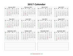 2017 calendar on one page u2013 blank calendar 2017
