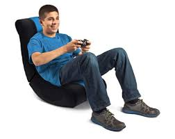 Bean Bag Gaming Chair Levelup Blue Rocker Gaming Chair For Nintendo Wii Gamestop
