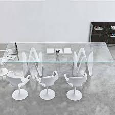 lambda large glass dining table klarity glass furniture