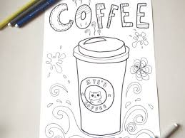 coffee cup coloring coffee travel mug goodmorning