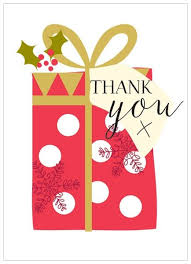 christmas thank you cards pack of 8 present christmas thank you cards karenza paperie