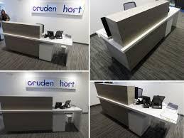 Bespoke Reception Desk Cruden Homes Bespoke Reception Desk Sjs Property Services