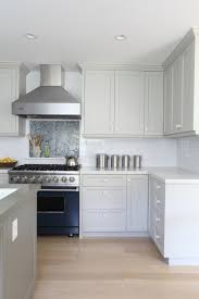 Gray Kitchen Cabinets Benjamin Moore by Gray Kitchen Features Gray Cabinets Painted Benjamin Moore Brushed