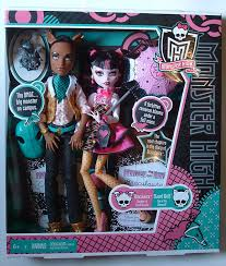 draculaura and clawd msj s doll pit high draculaura and clawd wolf