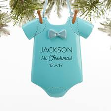 personalized baby ornaments baby boy bodysuit