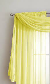 warm home designs yellow window scarf valances sheer yellow