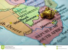 Map Of South Africa by Gold Nugget And Map Of South Africa Stock Photo Image 66236445