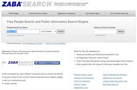 free finders websites zabasearch how to find remove personal information