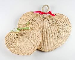 wedding favors fans palm raffia fans