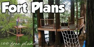 Fort Plans Indoor And Outdoor Plans For Building Kids Forts - Backyard fort designs