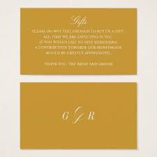 wedding registry for honeymoon fund gift registry honeymoon fund wedding gold monogram business card