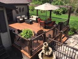 Stone Decks And Patios by Project Spotlight Deck With Stone Walkway