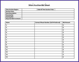 Bid Sheets For Silent Auction Template Silent Auction Bid Sheet Why Silent Auction Bid Sheets Are Dead