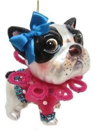 folk boston terrier santa ornament от dollthreadsandclay