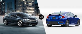honda civic honda civic vs 2016 honda civic coupe