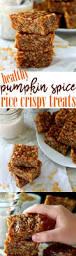 healthy pumpkin spiced rice crispy treats kim u0027s cravings