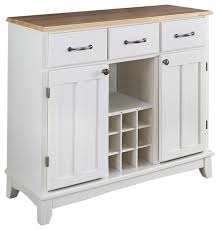 Kitchen Island With Wine Rack - natural wood top kitchen island sideboard cabinet wine rack white