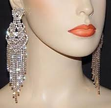 drag clip on earrings clip on chandelier earrings ebay