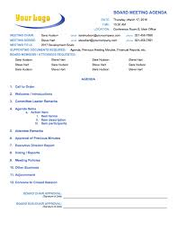 templates for business agenda free meeting agenda templates smartsheet business agenda template